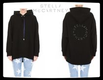 Stella McCartney Long Sleeves Plain Cotton Hoodies & Sweatshirts