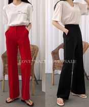 Casual Style Plain Long Maxi Skirts