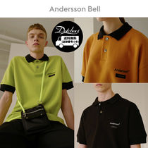 ANDERSSON BELL Crew Neck Unisex Street Style Cotton Short Sleeves Oversized
