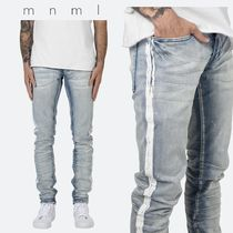 MNML Tapered Pants Stripes Denim Street Style Plain Jeans & Denim