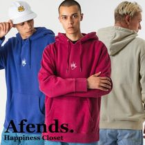 AFENDS Pullovers Street Style Long Sleeves Plain Cotton Hoodies