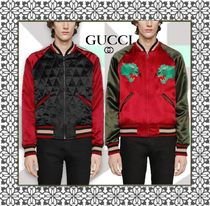 GUCCI Short Unisex Street Style Other Animal Patterns MA-1