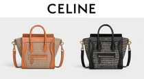 CELINE Luggage Other Check Patterns Zigzag Casual Style Calfskin