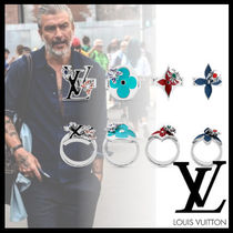 Louis Vuitton Flower Patterns Monogram Street Style Rings