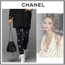 CHANEL Casual Style Cashmere Blended Fabrics Long Skinny Pants
