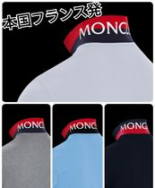 MONCLER Cotton Short Sleeves Logos on the Sleeves Polos