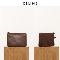 CELINE Trio Bag Leather Shoulder Bags