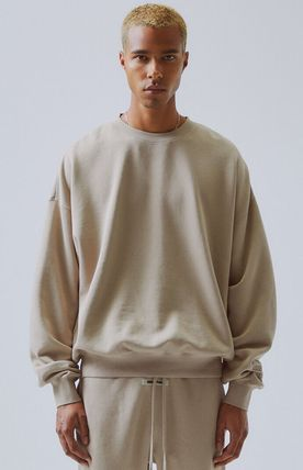 FEAR OF GOD ESSENTIALS Crew Neck Pullovers Unisex Sweat Street Style Collaboration