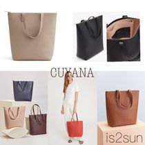 CUYANA A4 Plain Leather Office Style Totes