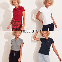 Hollister Co. Casual Style Plain Cotton Short Sleeves Polo Shirts