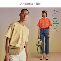 ANDERSSON BELL Unisex Street Style Plain Cotton Short Sleeves Oversized