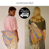 ANDERSSON BELL Unisex Street Style Plain Oversized Shoulder Bags