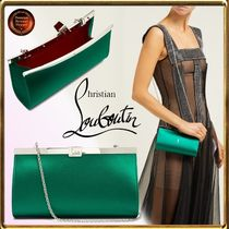 Christian Louboutin Chain Plain Party Style Clutches