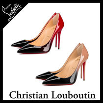 Christian Louboutin Plain Leather Pin Heels Elegant Style