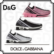 Dolce & Gabbana Casual Style Plain Leather With Jewels Low-Top Sneakers