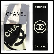 CHANEL 2019-20AW STOLE black ivory more scarves & shawls