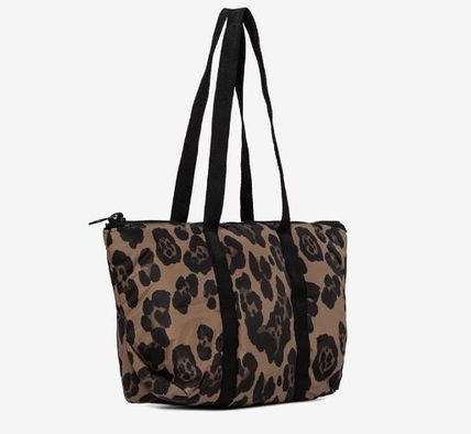 Leopard Patterns Crystal Clear Bags PVC Clothing Logo Totes