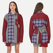 eyeye Other Check Patterns Casual Style Long Sleeves Medium