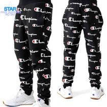 CHAMPION Printed Pants Unisex Street Style Cotton Patterned Pants