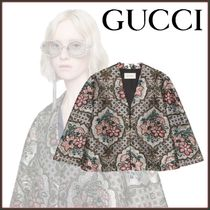 GUCCI Flower Patterns Ponchos & Capes