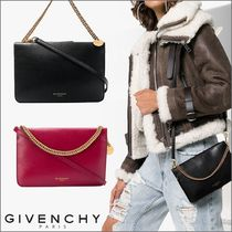 GIVENCHY CROSS3 Casual Style Unisex Calfskin 2WAY Shoulder Bags