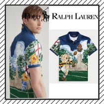 POLO RALPH LAUREN Street Style Other Animal Patterns Cotton Short Sleeves