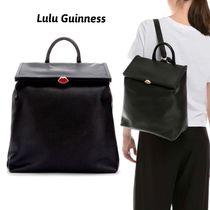 Lulu Guinness Casual Style Plain Leather Backpacks