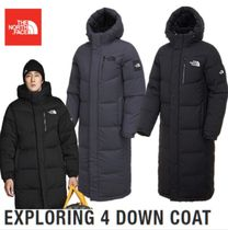 THE NORTH FACE WHITE LABEL Unisex Fur Street Style Long Down Jackets