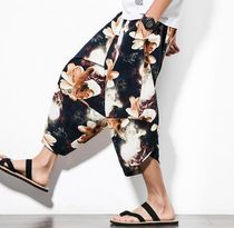 Printed Pants Flower Patterns Street Style Patterned Pants