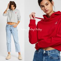 Calvin Klein Short Long Sleeves Cotton Logo Cropped