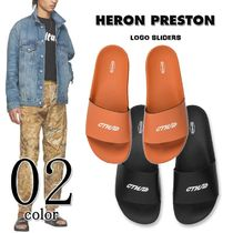 Heron Preston Unisex Street Style Plain Shower Shoes Shower Sandals