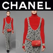 CHANEL ICON Casual Style Blended Fabrics Street Style Long Sleeves Plain