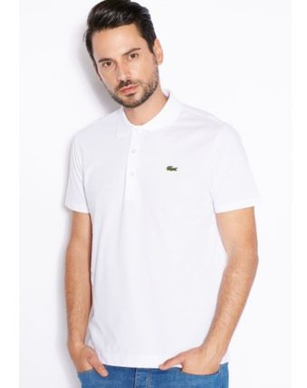 Cotton Short Sleeves Logo Polos