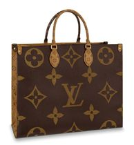 Louis Vuitton MONOGRAM Monogram Unisex Canvas A4 Bi-color Logo Totes