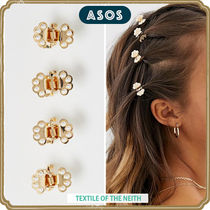 ASOS Barettes Casual Style Blended Fabrics Studded Clips