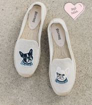 SOLUDOS Round Toe Casual Style Street Style Other Animal Patterns