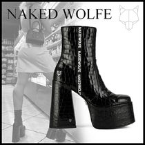 Naked Wolfe Casual Style Chunky Heels High Heel Boots