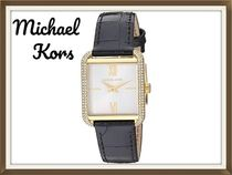 Michael Kors Studded Square Stainless Elegant Style Analog Watches