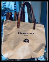 DEAN&DELUCA Casual Style Canvas A4 Totes