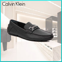 Calvin Klein Driving Shoes Street Style Plain Leather U Tips
