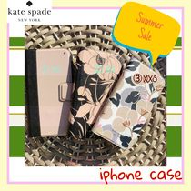 kate spade new york Flower Patterns Leather Smart Phone Cases