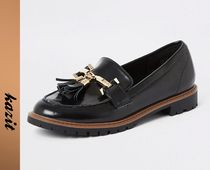 River Island Casual Style Faux Fur Loafer & Moccasin Shoes