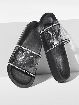 Open Toe Rubber Sole Casual Style Shower Shoes Flat Sandals