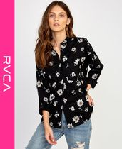 RVCA Flower Patterns Street Style Long Sleeves Shirts & Blouses