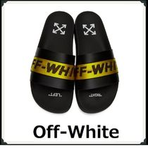 Off-White Plain Shower Shoes Shower Sandals