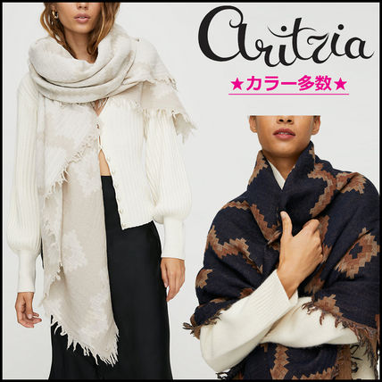 [Aritzia / Wilfred] Diamond Mosaic Blanket Scarf