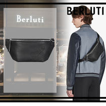Berluti Street Style Leather Hip Packs