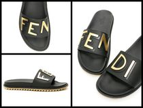 FENDI Unisex Street Style Plain Shower Shoes Shower Sandals
