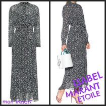Isabel Marant Flower Patterns Casual Style Dresses