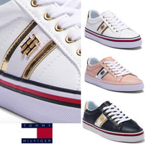 Tommy Hilfiger Casual Style Unisex Street Style Plain Low-Top Sneakers
